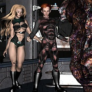 Sci-fi sex with hot chiks