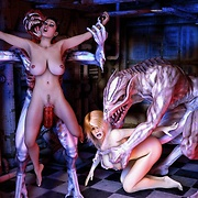 Tentacled monsters attack sexy babes everywhere