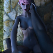 Pretty fair skinned elf gets fucked