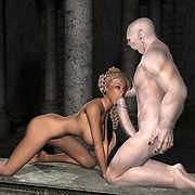Blond beauty sucks monster dick