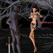 Long cock prods elf's soft pussy