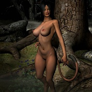 Hot sci-fi 3D picture set of sexy fantasy babes