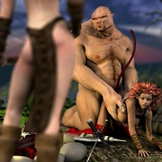Aliens and fantasy creatures have sex with humans