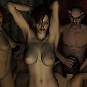 Crazy monster sex orgies with beautiful girls