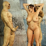 Archaeologist Lara Croft does a great titfuck for monsters